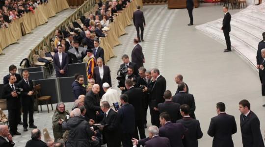 Il saluto di papa Francesco