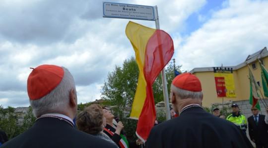 Inaugurata la via intitolata a Monsignore