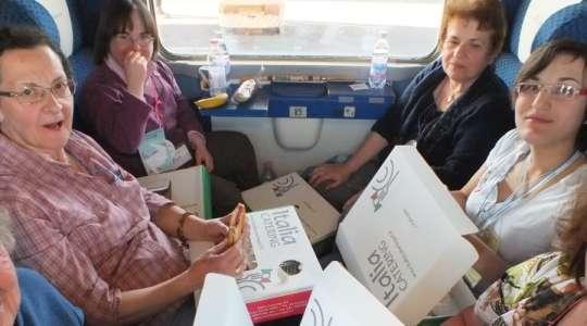 In treno a Lourdes