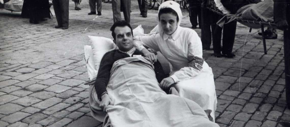 Fausto Gei con la sorella Franca