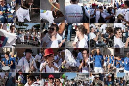 Un flash mob a Roma per la Giornata della disabilità