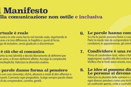 Il nuovo Manifesto della comunicazione non ostile e inclusiva